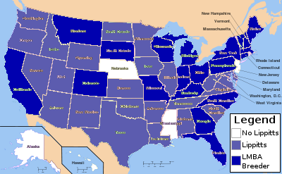 US States with Lippitt Horses